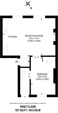 Large floorplan for Gloucester Place, Regent's Park, NW1