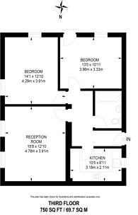 Large floorplan for Hanover Gate Mansions, Regent's Park, NW1