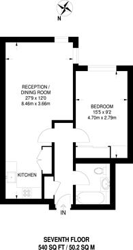 Large floorplan for Bridge Place, Victoria, SW1V
