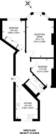 Large floorplan for Drayton Gardens, Chelsea, SW10
