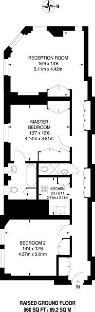 Large floorplan for Drayton Court, South Kensington, SW10