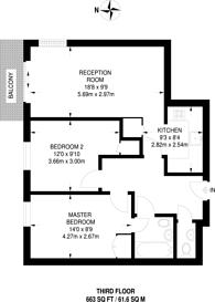 Large floorplan for Evan Cook Close, Peckham, SE15