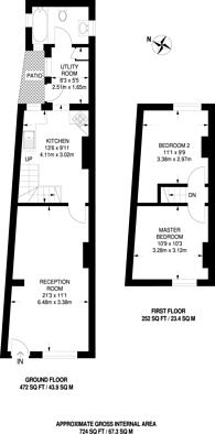 Large floorplan for Mill Street, Kingston, KT1
