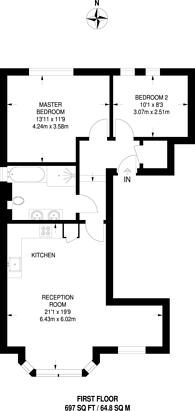 Large floorplan for Inglis Road, Ealing, W5