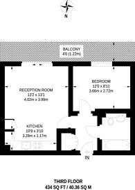 Large floorplan for Harrow Road, Kensal Rise, NW10