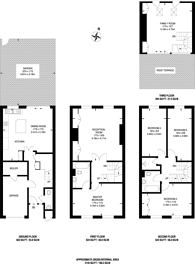 Large floorplan for Welford Place, Wimbledon Village, SW19