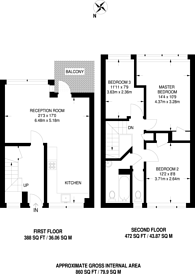 Large floorplan for Lupus Street, Westminster, SW1V