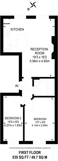 Large floorplan for Tollington Way, Upper Holloway, N7