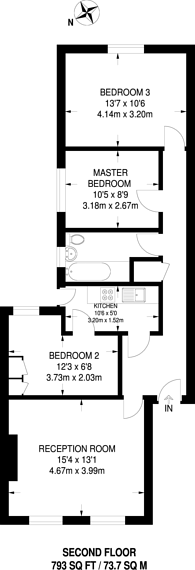 Large floorplan for All Souls Avenue, Willesden Green, NW10