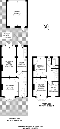 Large floorplan for Queen Mary Avenue, Morden, SM4