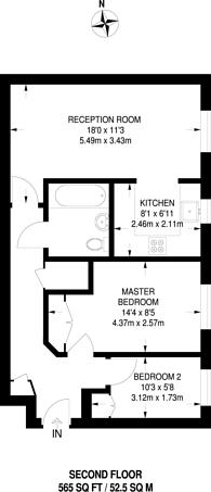 Large floorplan for Celandine Drive, Dalston, E8