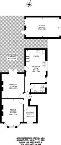 Large floorplan for Sylvan Avenue, Wood Green, N22, Wood Green, N22