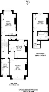 Large floorplan for Oakhill Road, East Putney, SW15