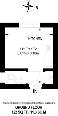 Large floorplan for Hemstal Road, West Hampstead, NW6