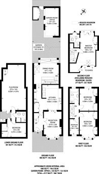 Large floorplan for Pulborough Road, Southfields, SW18