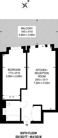 Large floorplan for Three Colts Lane, Bethnal Green, E2
