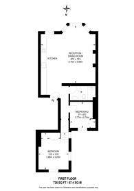 Large floorplan for Philbeach Gardens, Earls Court, SW5