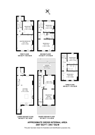 Large floorplan for Crooms Hill, Greenwich, SE10
