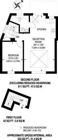 Large floorplan for Clifton Gardens, Temple Fortune, NW11