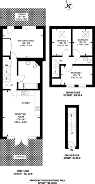 Large floorplan for Southwark Park Road, Bermondsey, SE16