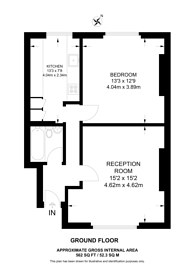 Large floorplan for Langtry Road, St John's Wood, NW8