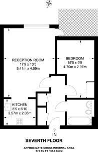 Large floorplan for The Oxygen, Royal Docks, E16