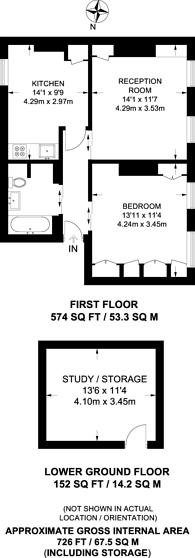 Large floorplan for Hermit Street, Finsbury, EC1V
