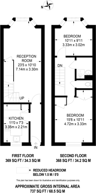 Large floorplan for Ditton Road, Surbiton, KT6