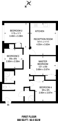 Large floorplan for Siward Road, Wimbledon, SW17