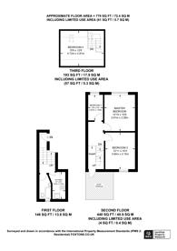 Large floorplan for Sandmere Road, Clapham North, SW4