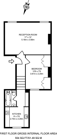 Large floorplan for Digby Crescent, Islington, N4