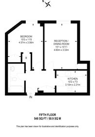 Large floorplan for Point West, Kensington, SW7