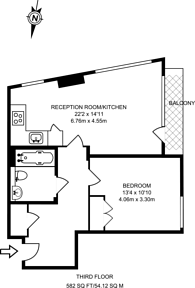 Large floorplan for Denison House, Canary Wharf, E14