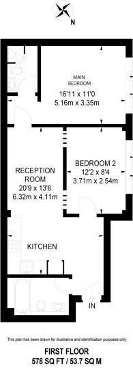 Large floorplan for Fonthill Road, Finsbury Park, N4