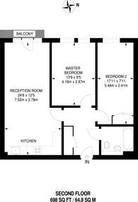 Large floorplan for Maitland Road, Stratford, E15