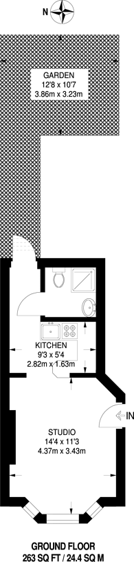 Large floorplan for Buxton Road, Willesden Green, NW2