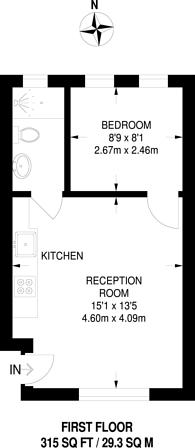 Large floorplan for Churston Close, Tulse Hill, SW2