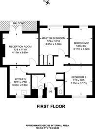 Large floorplan for Cephas Street, Stepney, E1