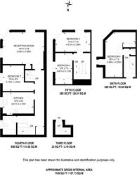 Large floorplan for Mandeville Place, Marylebone, W1U