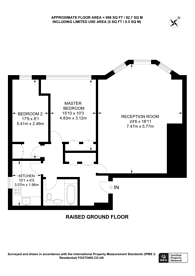 Large floorplan for Wetherby Gardens, Earls Court, SW5