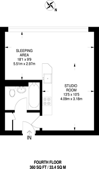Large floorplan for Haverstock Hill, Belsize Park, NW3