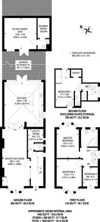 Large floorplan for Sutherland Grove, Southfields, SW18