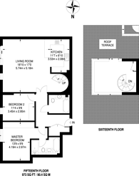 Large floorplan for Saffron Square, Central Croydon, CR0