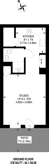 Large floorplan for Queensland Road, Highbury and Islington, N7