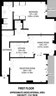 Large floorplan for Banyan House, Imperial Wharf, SW6