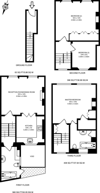 Large floorplan for Connaught Street, Connaught Village, W2