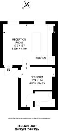 Large floorplan for Princess Road, Primrose Hill, NW1