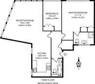 Large floorplan for Leonard Street, Shoreditch, EC2A