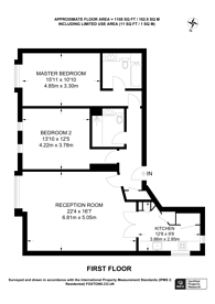 Large floorplan for Rochester Row, Pimlico, SW1P