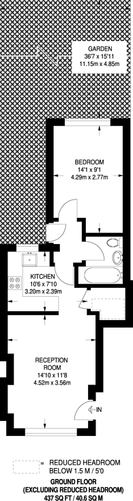 Large floorplan for Hindmans Road, East Dulwich, SE22